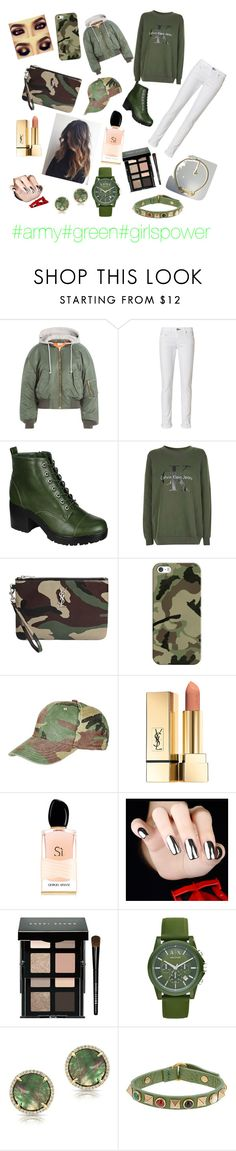 """""""GREEN"""" by miruna1-1 ❤ liked on Polyvore featuring Vetements, rag & bone, Breckelle's, Topshop, Yves Saint Laurent, Casetify, Giorgio Armani, Bobbi Brown Cosmetics, Armani Exchange and Anne Sisteron"""