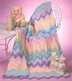 Sherbert Ripple Baby Blanket @ http://www.crochet-world.com/newsletters/talkingcrochet/pages/TCNL1509_patt2.html