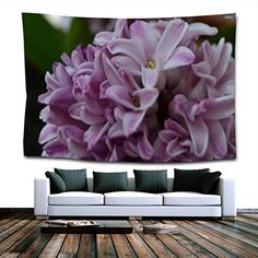 Those who truly love floral wall art understand the appeal of Hyacinth wall decor. It is easy to hang and can work in many different rooms. Beautiful Hyacinth Wall Hanging Tapestry for Bedroom Dorm Living Room