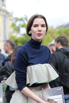 """fashion-clue: """"snappedbybenjaminkwan: """"Miu Miu SS 2016 Paris Snapped by Benjamin…"""