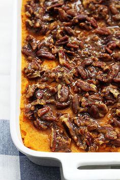 Candied Pecan Sweet Potato Casserole by Le Creme de la Crumb and 25 other top Thanksgiving recipes