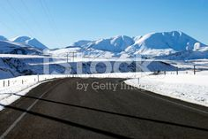 Roadscape in Winter, New Zealand royalty-free stock photo Image Now, Four Seasons, New Zealand, Royalty Free Stock Photos, Weather, Day, Travel, Viajes, Seasons Of The Year