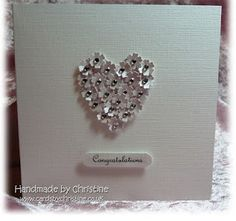 Such an easy card to make... had the idea for an engagement card..