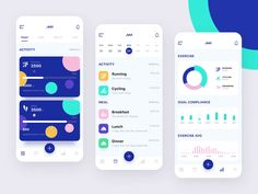 Everybody wants perfect health through fitness tracker but all fitness app have not that trending looks. So we have designed some colorful and vibrant fitness app concept. Interaktives Design, Design Food, App Ui Design, Interface Design, Site Design, Flat Design, Mobile App Design, Web Mobile, Button Animation