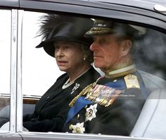 getty: Queen Elizabeth and the Duke of Edinburgh leave from Westminster Abbey following the funeral of Queen Elizabeth the Queen Mother, April 9, 2002