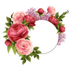 Rose Flower Wallpaper, Flower Background Wallpaper, Flower Backgrounds, Flower Boarders, Flower Frame, Wreath Watercolor, Watercolor Flowers, Tropical Artwork, Flower Graphic Design