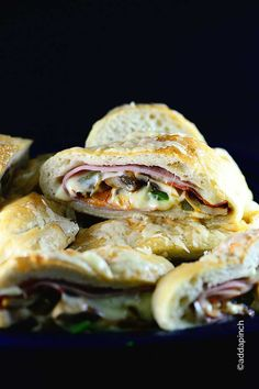 Stromboli Recipe - Amazingly delicious and simple recipe for suppers and gatherings with friends!  from addapinch.com