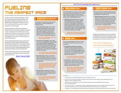 During training it's important to provide your body the nutrients needed to push you through physically demanding workouts.  To avoid an energy crash during your race.....http://www.4amazingresults.isagenix.com/en-US/products/categories/systems-and-paks/energy-performance