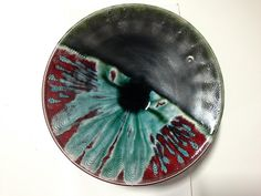 OxBlood 928 Spectrum Lead Free Glazes. with 156 Green Patina on top to create all these beautiful green.