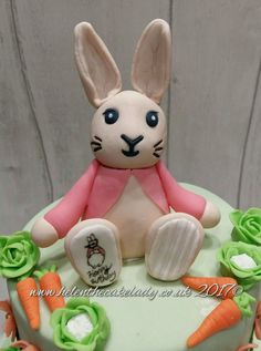 Bunny rabbit cake topper