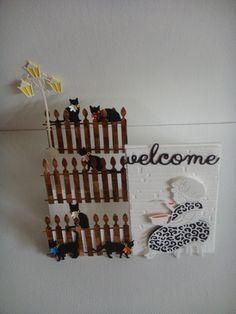 Kit carte accordéon Mamie avec ses chats à réaliser vous même.  Je crée la carte, vous vous aidez de la photo pour la réaliser vous même.  Composition du kit :  - 1 Car - 7132465