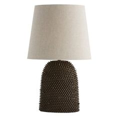 Arteriors Home Orrick Lamp, Tall - Arteriors 17995-884 (965 CAD) ❤ liked on Polyvore featuring home, lighting, brown lamps, brown shades, brown shade and linen shade