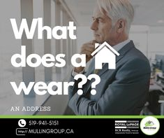 What does a house wear???? ....An adDRESS 😂 🤣 Hope everyone is having a fantastic week! If you are ever looking for a new adDRESS let us help! We tailor the experience to your needs! 😜 🏠 The Mullin Group 519-941-5151 #mullingroup #onthemove #orangevillerealestate #orangeville #funnyrealestate #humpday #royallepagercr