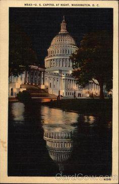 U.S. Capitol at Night Washington DC