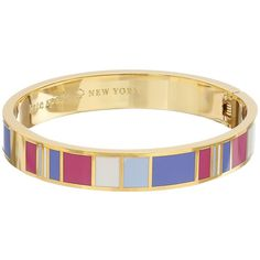 Kate Spade New York Idiom Bangles It's What's On The Inside That... ($78) ❤ liked on Polyvore featuring jewelry, bracelets, multi, tri color bangles, multi colored bracelet, bracelet jewelry, bracelets & bangles e colorful bracelet