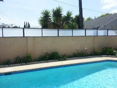 2 ft tall plexiglass wall extension or also known as a for Plexiglass pool fence