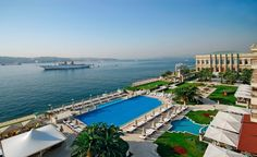 The Ciragan Palace Kempinski in Istanbul. Splurge on the Sultan Suite (one of the largest suites in Europe), with 180 degree views and dining for 12.