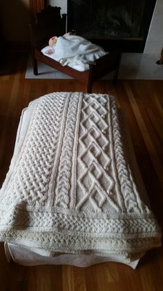 Knit this gorgeous cabled afghan with Lion Brand Fishermen's Wool!