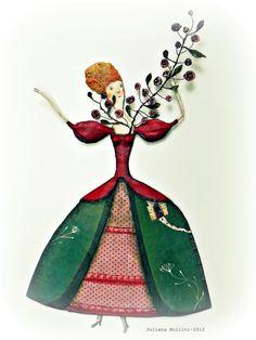 Совершенно сказочных кукол нашла в интернете. Принцессы, фокусники и музыканты — всю эту красоту создает художница из Бразилии Juliana Bollini. Скульптура из папье маше плюс пуговицы, бусины, лоскутки и фольга — и на свет появляются ее куклы настроения. Воздушные и непосредственные, вызывающие улыбку на лице… Художник и иллюстратор Juliana Bollini закончила Школу Изящных…