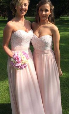#long pearl pink bridesmaid dresses, bridesmaid dresses pear pink, elegant…