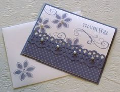 Tammie Stamps: Wisteria Thank You Pretty Cards, Cute Cards, Embossed Cards, Stamping Up Cards, Sympathy Cards, Paper Cards, Creative Cards, Flower Cards, Greeting Cards Handmade