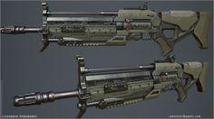 Assault Rifle (inGame model), Alex Ponomarev on ArtStation at https://www.artstation.com/artwork/assault-rifle-66709ca5-20f3-42e8-87b7-d3b1b29c1f1f