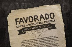 Favorado typeface by DreamBikeShop on @creativemarket