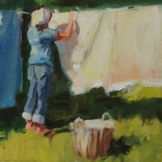 Wash Day, painting by artist Robin Cheers