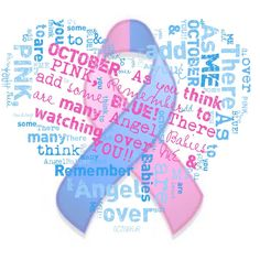 October is Miscarriage Stillbirth and infant loss awareness month. #thinkpinkandblue