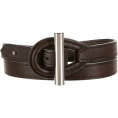 Pre-owned Herm�s Osiris Belt ($395) ❤ liked on Polyvore featuring accessories, belts, brown, brown leather belt, hermes belt, brown belt, leather belt and hermès