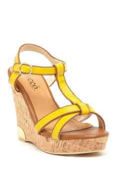 71945daf63fa Bucco Septima Wedge Sandal by Bucco on