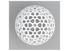 christmas tree bubble with arabic pattern by David Bizer on Shapeways | I'm going to paint it gold!