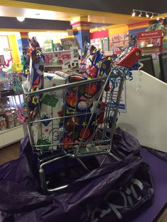 Grocery Cart as Gift Bag