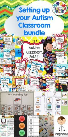Autism Classroom, Set Up Your Classroom.  This is a bundle of resources from my store that will be great to help you set up your new autism classroom or just to update it. Each resources comes with instructions so you are able to implement them and use them in the best possible way in your classroom!   We use these within our classroom every year and they work wonders with our students, so I am able to personally recommend you these resources ...