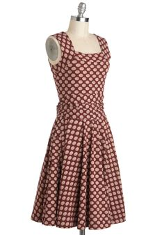 Guest of Honor Dress in Dots | Mod Retro Vintage Dresses | ModCloth.com