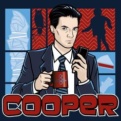 Cooper by Kgullholmen - He may not have a cool first name like Archer, or a cool code name like Duchess, but Dale has something that other agent will never have - a backstage pass to the Red Room, where he can take in a modern dance performance any time he wants! He's far more interested in coffee and cherry pie than scotch and twin stewardesses, but his lack of carnal desires doesn't make him any less cool, just ask Bob!