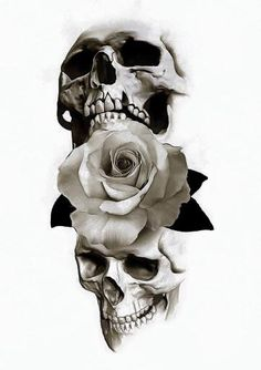 So many skull ideas I think I'll combine a few into a totally new idea ♡ Skull Tattoo Design, Skull Design, Skull Tattoos, Rose Tattoos, Body Art Tattoos, Sleeve Tattoos, Tattoo Designs, Totenkopf Tattoos, Skull Art