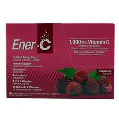 Ener-C Vitamin Drink Mix - Raspberry - 1000 mg - 30 Packets