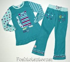 Outfits and Sets Size 6 for Girls Fleece Pants, Applique, Tunic Tops, Kitty, Best Deals, Fun, Outfits, Shopping, Little Kitty