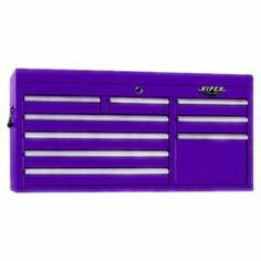"""Keep your garage or work bench organized with this versatile steel tool box, featuring 9 drawers and an eye-catching purple finish.  Product: Tool boxConstruction Material: SteelColor: PurpleFeatures: Nine drawersDimensions: 20.25"""" H x 41"""" W x 17.75"""" D"""
