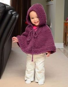 Knitted Hooded Baby Poncho Pattern Free  d21e1545a084