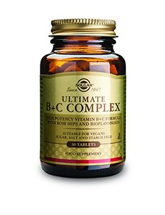 Solgar Ultimate B Plus CComplex Tablets 30 Count * Want additional info? Click on the image. (This is an affiliate link and I receive a commission for the sales)