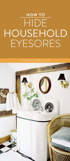 5 smart, easy ways to disguise radiators, thermostats and control panels, televisions, plumbing, and more. Life Organization, Organizing, Bathroom Radiators, Wall Fixtures, Craft Ideas, Decor Ideas, Mom Style, Live For Yourself, Problem Solving