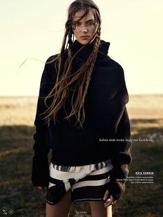 "Stina Olsson in ""Naturbarn"" by Eric Josjo for Elle Sweden, November 2014"