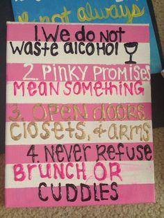 Dorm room rules!