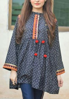 Buy Fotua and Top for Women Online in BD Stylish Dresses For Girls, Frocks For Girls, Stylish Dress Designs, Designs For Dresses, Simple Dresses, Casual Dresses, Stylish Dress Book, Girls Dresses Sewing, Simple Pakistani Dresses