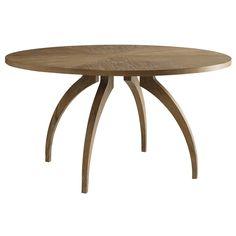 atherton round dining table in teak finish | brownstone furniture [1967 @ zinc door]