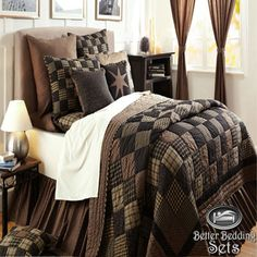 California King Black Bedding Patchwork Twin Queen Cal Size Quilt Oversized