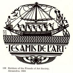 Emblem of the 'Friends of Art Society', Alexandria. 1924.