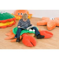 Kalokids Charlie Crab Giant Floor Cushion